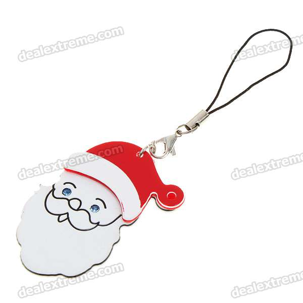 Beautiful Father Christmas Figure Mobile Phone Strap (5-Pack)
