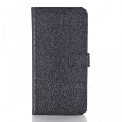 PU Wallet Case with Stand and Card Slots for HUAWEI P10 Lite - Black