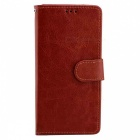 Flip Open PU Leather Case with Stand, Card Slots for LG G6 - Brown