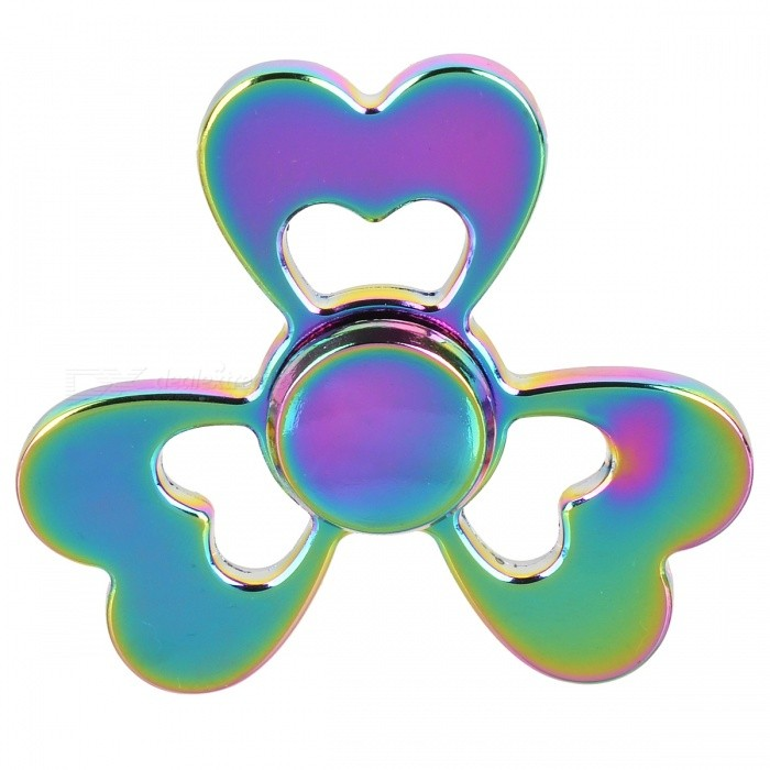 BLCR Clover Style EDC Finger Spinner Toy for Autism - MulticolorFinger Toys<br>Form  ColorMulticolorMaterialZinc alloyQuantity1 pieceSuitable Age 8-11 years,12-15 years,Grown upsPacking List1 x Hand spinner<br>
