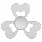 BLACK Clover Style EDC Finger Spinner Игрушка для Аутизма - Серебро