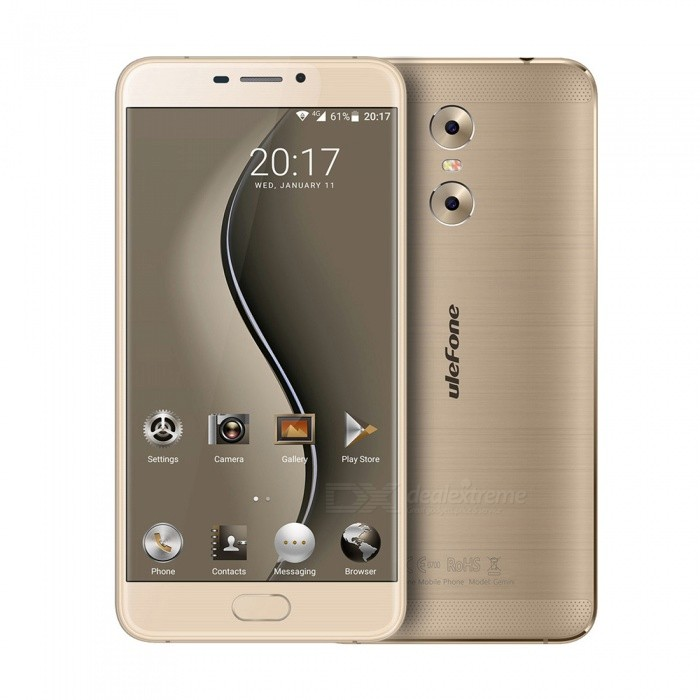 Ulefone Gemini Android 6.0 Smartphone with 3GB RAM 32GB ROM - Golden