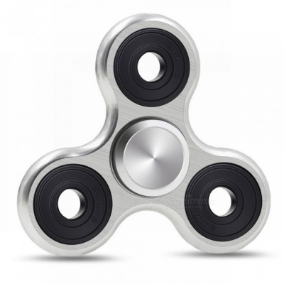Mr.northjoe Finger Spinner Toy EDC Hand Spinner for Autism - Silver