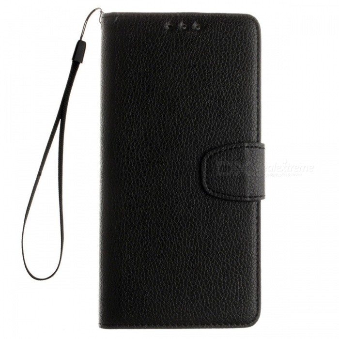 Lychee Grain Style Leather Case for Samsung Galaxy J7 Prime - Black