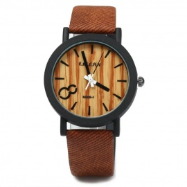 Unique Vogue Wooden Style Men's Sports Quartz Watch - Brown