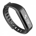 IP67 Bluetooth V4.0 Smart Bracelet with Heart Rate Monitor - Black