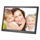 15.4 inch Digital Photo Frame 16GB Memory, US Plugs Adapter - Black