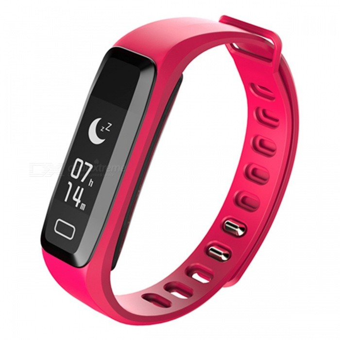 IP67 Bluetooth V4.0 Smart Bracelet with Heart Rate Monitor - RedSmart Bracelets<br>Form  ColorRedQuantity1 DX.PCM.Model.AttributeModel.UnitMaterialABSShade Of ColorRedWater-proofIP67Bluetooth VersionBluetooth V4.0Touch Screen TypeYesCompatible OSAndroid 4.0 or higher, iOS 7.1 and higheBattery Capacity50 DX.PCM.Model.AttributeModel.UnitBattery TypeLi-polymer batteryStandby Time20 DX.PCM.Model.AttributeModel.UnitPacking List1 x Smart Bracelet1 x Charging clip 1 x User Manual<br>