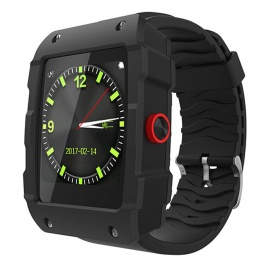 "V18 1.54"" Bluetooth Smart Watch Supports 32GB TF Card and GPS - Black"