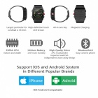 "V18 1.54"" Bluetooth Smart Watch Supports 32GB TF Card and GPS - Silver"