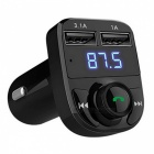 Car Wireless Bluetooth Kit MP3 Audio Player, FM Transmitter - Black