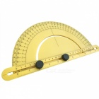 Universal Combined Angle Measuring Protractor Ruler - Yellow