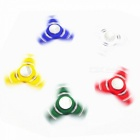 9-ball Tri-Spinner Ruční Spinner Fidget Hračka Stress Relief Toy-Yellow