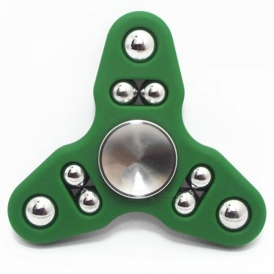 9-ball Tri-spinner Hand Spinner Fidget Toy Stress Reliever Tool -Green