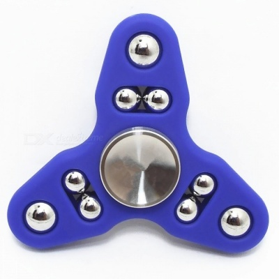 9-ball Tri-spinner Hand Spinner Fidget Toy Stress Reliever Tool - Blue