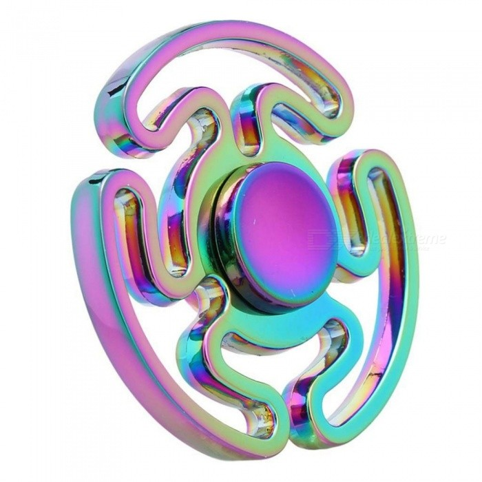 Dayspirit Rainbow Round Maze Finger Stress Relief Gyro Rotator Toy