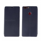OCUBE PU Leather Flip-open Case for Elephone C1 MAX - Deep Blue