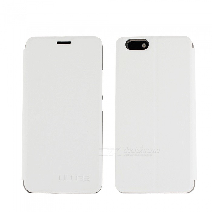 OCUBE PU Leather Flip-open Case for Elephone C1 MAX - White
