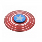 E-SMARTER Shield Style Stress Relief Spinner Toy EDC Hand Spinner -Red