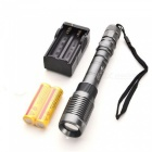 Ultrafire UZ5 Zooming LED 5-Mode Flashlight - Silver