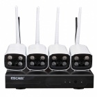 ESCAM WNK403 Plug and Play Wireless NVR Kit - White (UK Plug)