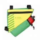 B-SOUL Bike Triangle Pack with Kettle Bag - Green (Without Kettle)