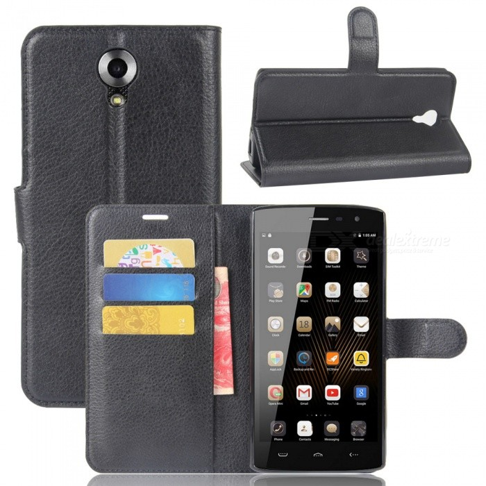 Lichee Pattern Protective Case for HOMTOM HT7 - Black