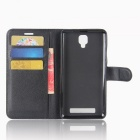PU Leather Wallet Cases with Card Slots for Doogee X10 - Black