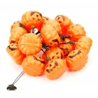 Halloween 12-Pumpkin Style Yellow Flashing String Lights - 260cm (220V)