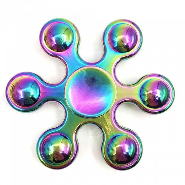 Mr.northjoe Spinner Fidget Toy EDC Hand Spinner - MulticolorFinger Toys<br>Form  ColorMulticolorMaterialAlloyQuantity1 pieceSuitable Age 5-7 years,8-11 years,12-15 years,Grown upsPacking List1 x Spinner<br>
