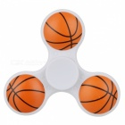 E-SMARTER Basketball Pattern Stress Relief Toy EDC Spinner - White