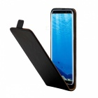 Split Leather Flip-Open Case for Samsung Galaxy S8 - Black