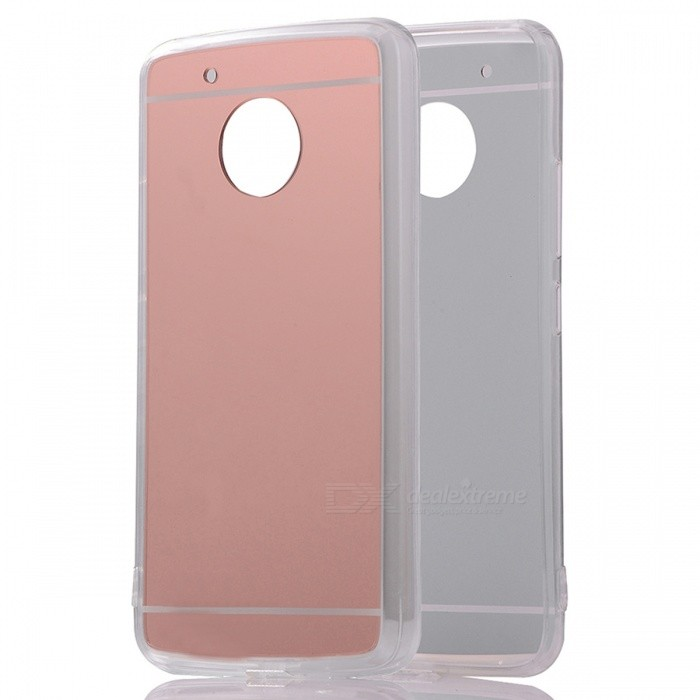 Protective TPU PC Back Case for Moto G5 Plus - Translucent Rose Gold