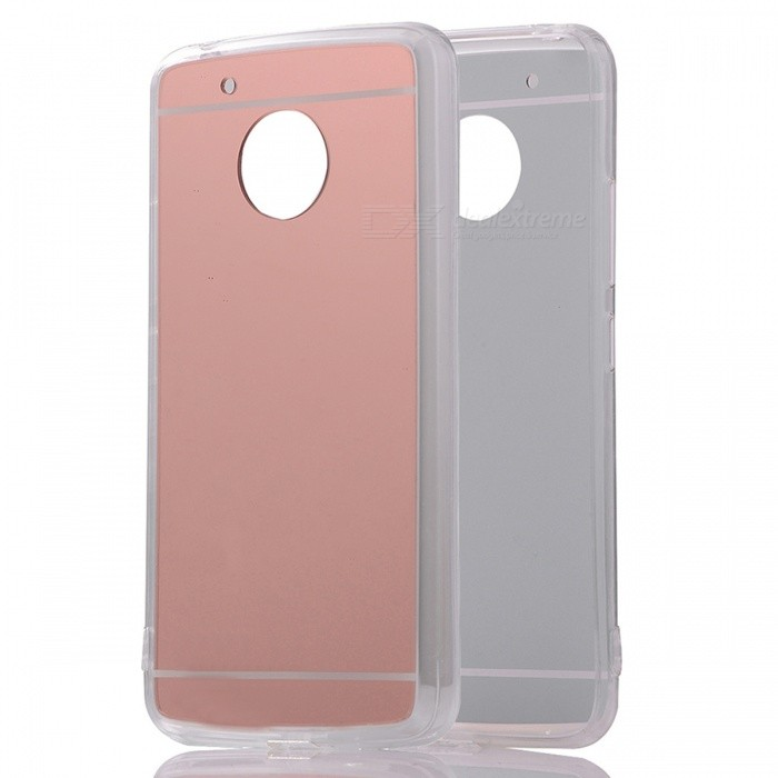 Protective TPU PC Mirror Back Case for Moto G5 - Translucent Rose Gold