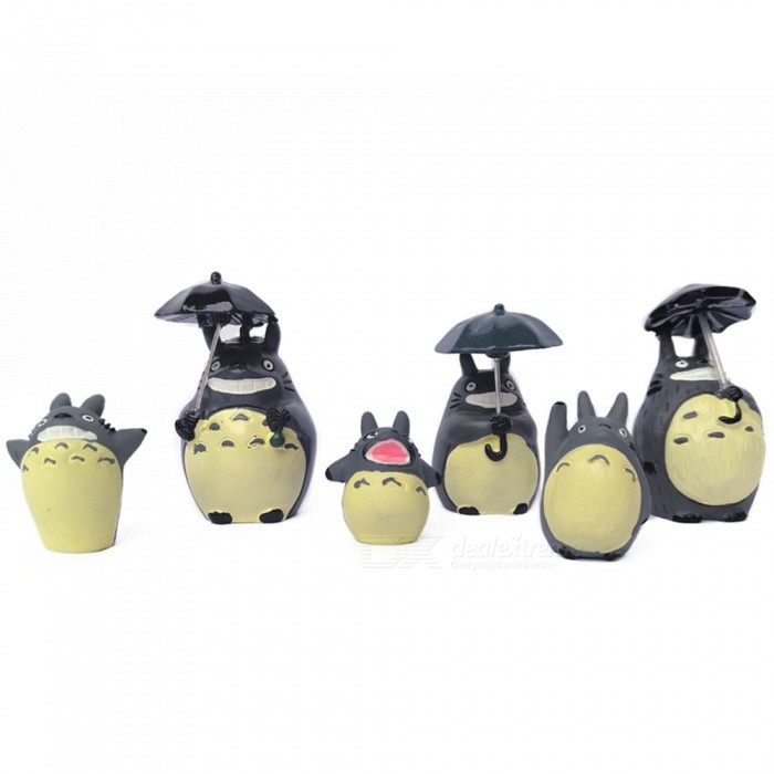 DIY Garden Decoration Totoro Series Potted Gardening Dolls (6 PCS)Garden Gadgets<br>Form  ColorGrey + MulticolorMaterialResinQuantity6 DX.PCM.Model.AttributeModel.UnitPacking List6 x Dolls<br>