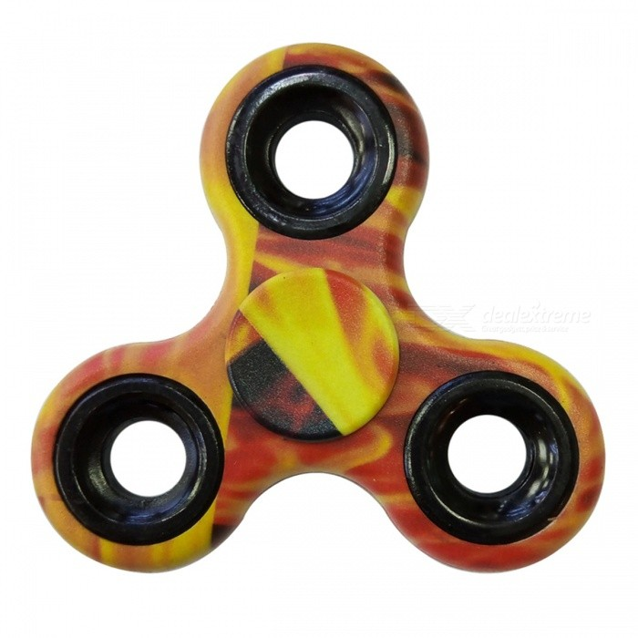 Dayspirit Finger Spinner Toy EDC Hand Spinner for Autism - YellowFinger Toys<br>Form  ColorYellow + Red + Multi-ColoredMaterialABSQuantity1 pieceSuitable Age 5-7 years,8-11 years,12-15 years,Grown upsPacking List1 x Spinner<br>