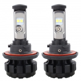 MZ H4 80W Car LED Conversion Headlight Bulb Kits Hi Lo Beam 12-24V