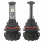9007 HB5 Car LED Headlights 7200lm 6000K Cold White IP67 Waterproof Turbo Fan