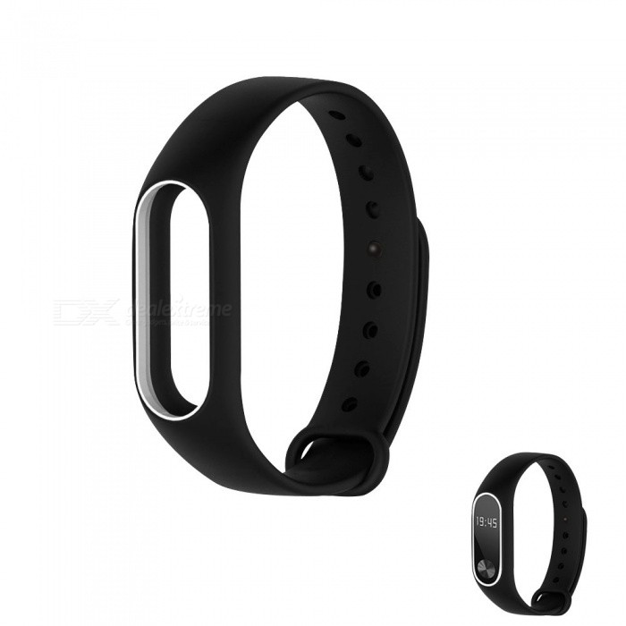 Replacement TPU Wrist Band for Xiaomi MI Band 2 - Black WhiteWearable Device Accessories<br>Form  ColorBlack with WhiteQuantity1 pieceMaterialTPUPacking List1 x Wristband<br>