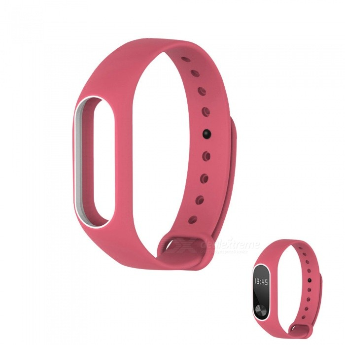 Replacement TPU Wrist Band for Xiaomi MI Band 2 - Pink WhiteWearable Device Accessories<br>Form  ColorPink with WhiteQuantity1 DX.PCM.Model.AttributeModel.UnitMaterialTPUPacking List1 x Wristband<br>