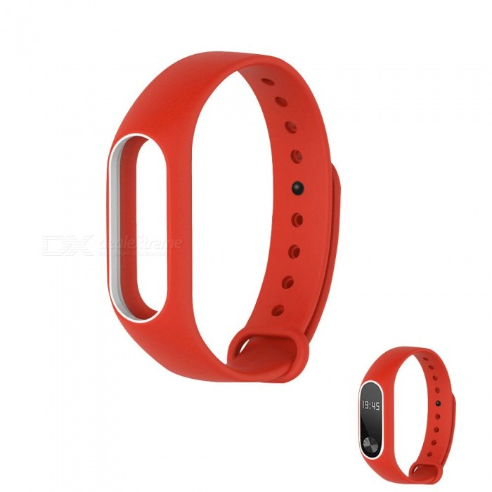 Replacement TPU Wrist Band for Xiaomi MI Band 2 - Red WhiteWearable Device Accessories<br>Form  ColorRed with WhiteQuantity1 DX.PCM.Model.AttributeModel.UnitMaterialTPUPacking List1 x Wristband<br>