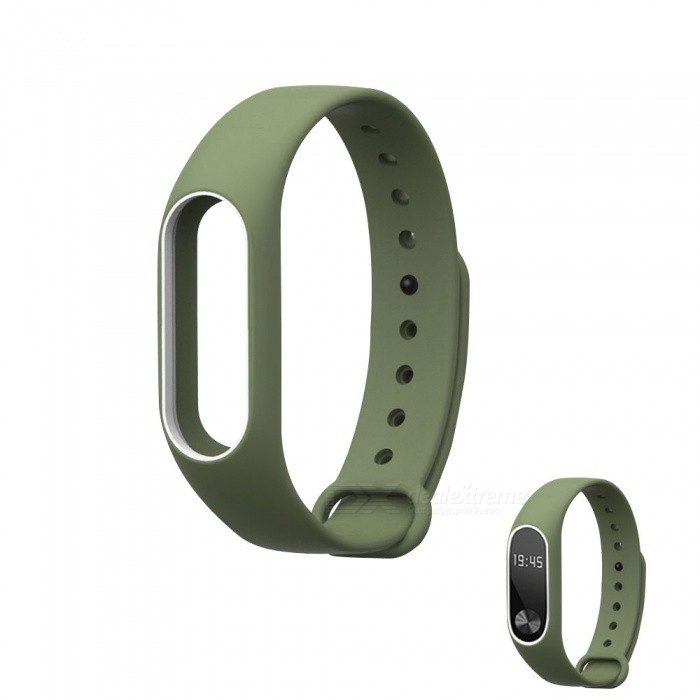 Replacement TPU Wrist Band for Xiaomi MI Band 2 - Army Green, White
