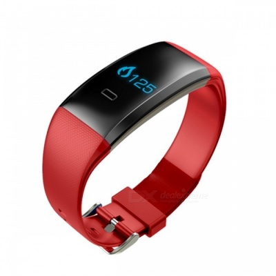 Eastor S2 IP66 Blood Pressure Heart Rate Monitor Smart Band - Red