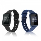 Z8plus Ultra-Thin Smart Sports Bracelet with Heart Rate Monitor - Blue