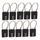 NatureHike Zinc Alloy Suitcase Coded Combination Lock - Black (10 PCS)