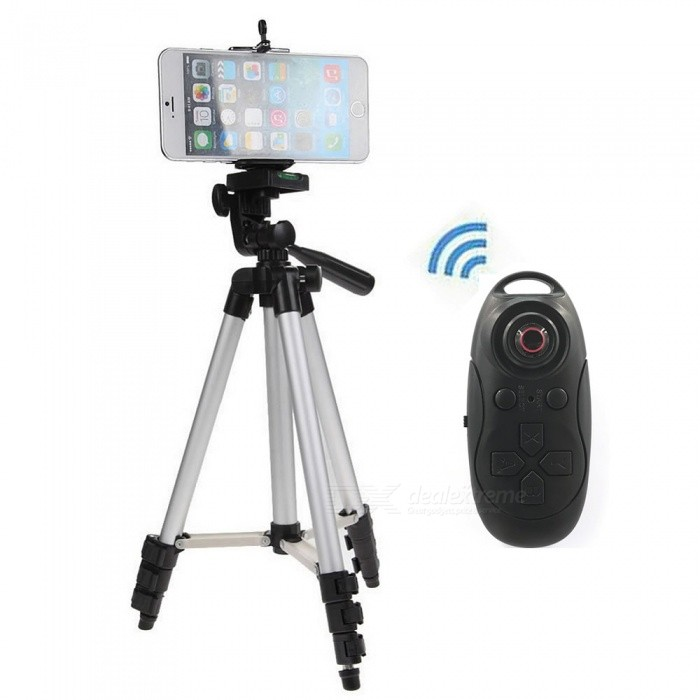 Cwxuan Retractable Tripod Mount Holder med Bluetooth Control-silver