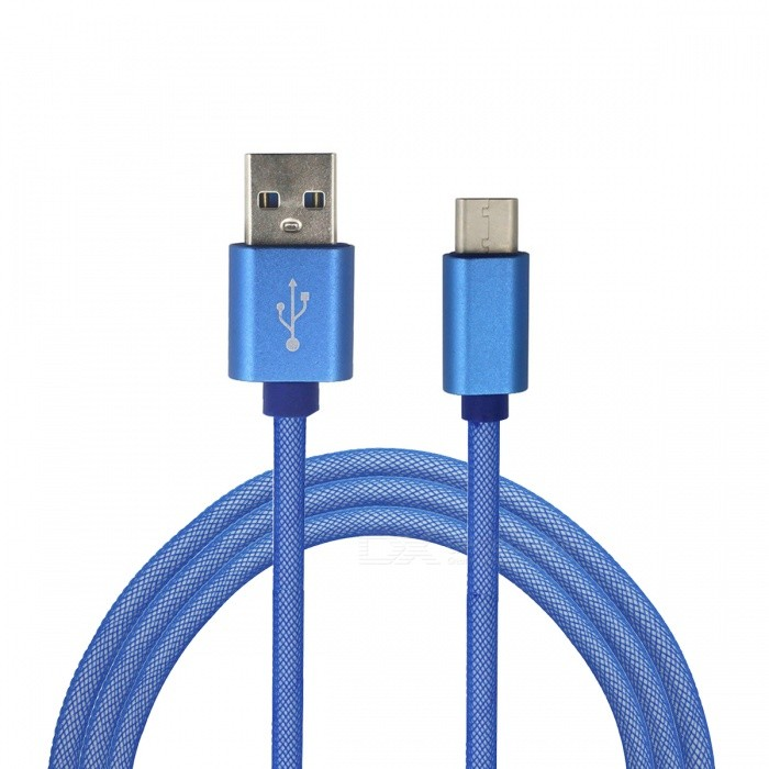 Mini Smile 3.4A Type-C to USB 2.0 Charging Data Cable (1m) - BlueCables<br>Form  ColorBlueModelYW-1MMaterialABSQuantity1 DX.PCM.Model.AttributeModel.UnitCompatible ModelsSamsung / Huawei / LG / OneplusCable Length100 DX.PCM.Model.AttributeModel.UnitConnectorUSB 3.1 Type-cPacking List1 x Cable<br>