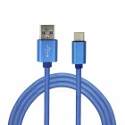 Mini Smile 3.4A Type-C to USB 2.0 Charging Data Cable (1m) - Blue