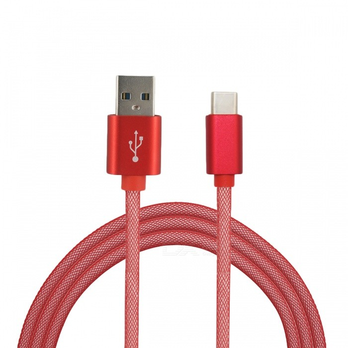Mini Smile 3.4A Type-C to USB 2.0 Charging Data Cable (1m) - RedCables<br>Form  ColorRedModelYW-1MMaterialABSQuantity1 DX.PCM.Model.AttributeModel.UnitCompatible ModelsSamsung / Huawei / LG / OneplusCable Length100 DX.PCM.Model.AttributeModel.UnitConnectorUSB 3.1 Type-cPacking List1 x Cable<br>