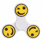 E-SMARTER Emoticon Pattern Stress Relief Toy EDC Spinner - White